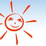 Sun smiles. — Stock Vector
