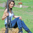 Girl with gun - 