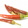 Close-up view of the red pepper isolated — Stock Photo