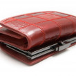 Stock Photo: Red Leather Women Purse.