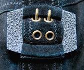 Belt with metal buckle — Stock Photo