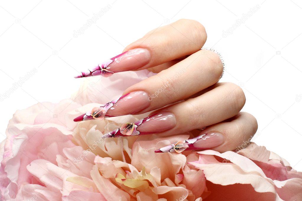 Impressive Manicured acrylic nails - Stock Image 1023 x 682 · 159 kB · jpeg