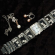 Watch and jewelry — Stock Photo