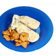 Stock Photo: Blue cheese and cookys