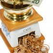 Stock Photo: Money and gold