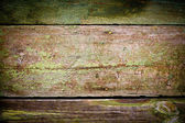 Green paint on the wood — Stock Photo