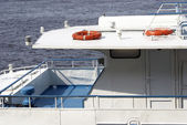 Rescue circles abovedeck ship — Stock Photo