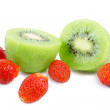 Kiwi and strawberry - Stock Photo