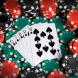 A straight flush — Stock Photo