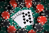 A straight flush — Stockfoto