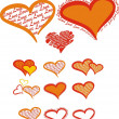 Romantic stilyzed vector hearst — Stock Photo