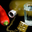 Red pepper and vodka — Stock Photo