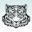 Stock Vector: Tiger head