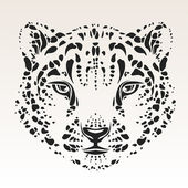 Snow leopard head — Stock Vector