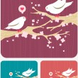 Modern background with birds — Stock Vector