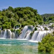 Waterfall in Krka national park in Croatia - Stok fotoğraf