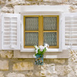 Old styled European window — Stockfoto