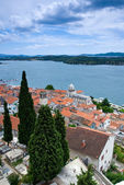 View at the Sibenik town — Stock Photo