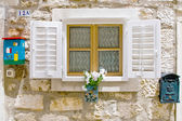 Old styled European window — Stock Photo