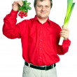 Royalty-Free Stock Photo: Man with vegetable