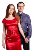 Retrato de una joven pareja guapo — Foto de Stock