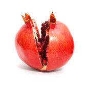 Pomegranate fruit isolated on white background — Stock Photo
