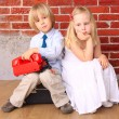 Beautiful blond children. Series — Stock Photo