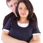 Happy couple isolated on white — Stock Photo
