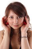 Closeup studio mode portret van een mooie jonge sexy vrouw — Stockfoto