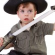 A young boy dressed as a pirate. - Foto de Stock