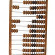 Stock Photo: Old wooden abacus isolated on white background