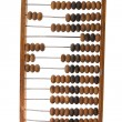 Old wooden abacus isolated on white background — Stock Photo