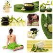 Wellness and spa collage — Foto Stock