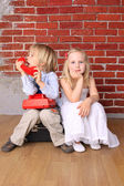 Little boy and a beautiful girl. Love concept — Stock Photo