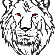 Vector image  head  lion — Stock vektor