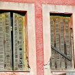 Boarded windows - Foto Stock