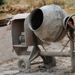 Cement mixer — Stock Photo