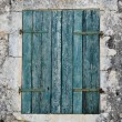 Royalty-Free Stock Photo: Blue window shutter