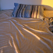 Unmade bed — Stockfoto
