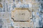 Stone inscription — Stock Photo