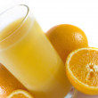 Isolated orange juice - Stock Photo