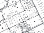 Closeup architektonického projektu — Stock fotografie