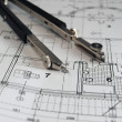 Stock Photo: Divider on architectural plan