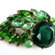 Emerald Brooch — Stock Photo