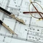 Making architectural plan — Stock Photo