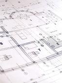 Closeup of architectural plan — Stock Photo