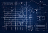 Architectural blueprint — Stock Photo