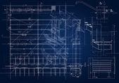 Architectural blueprint — Stock Photo