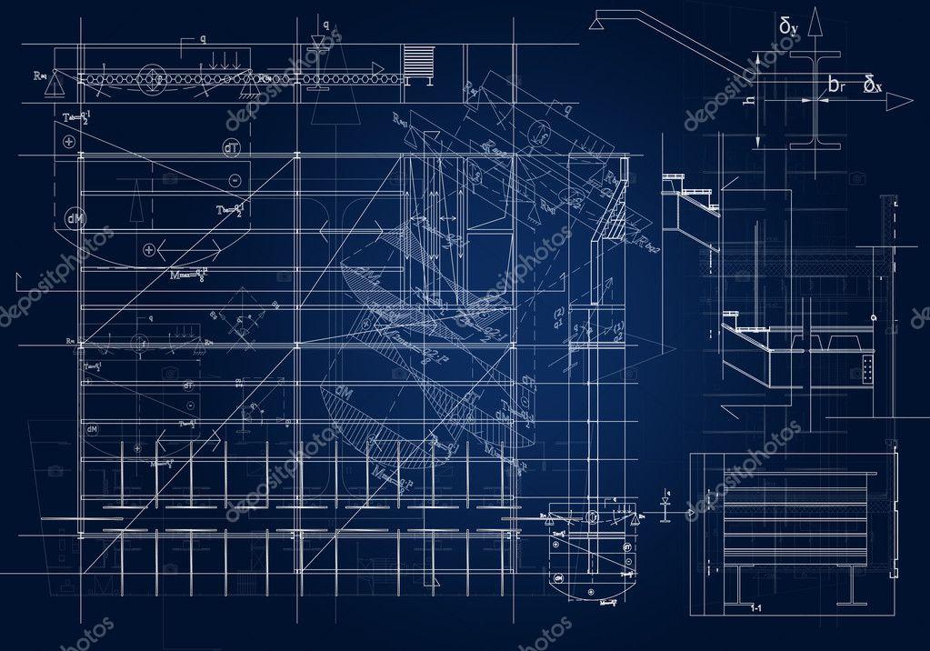 Architectural Blueprint Stock Photo Hitdelight 3827918