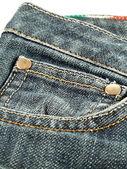 Closeup džíny — Stock fotografie